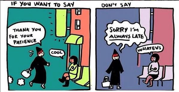 Cartoons Show How 'Thank You' Can Be an Empowering Substitute for 'Sorry' | GOOD