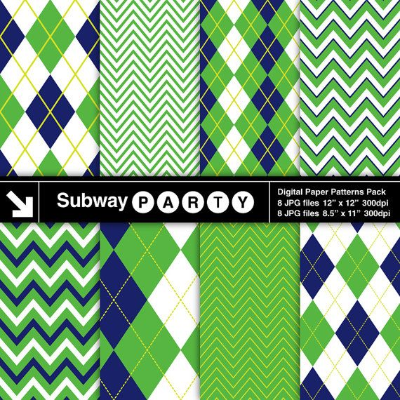 INSTANT DOWNLOAD Navy Blue and Green Chevron and by subwayParty, $3.45  https://www.etsy.com/listing/150622946/instant-download-navy-blue-and-green?ref=sr_gallery_38&ga_search_query=Digital+Letters&ga_order=date_desc&ga_view_type=gallery&ga_page=5&ga_search_type=all