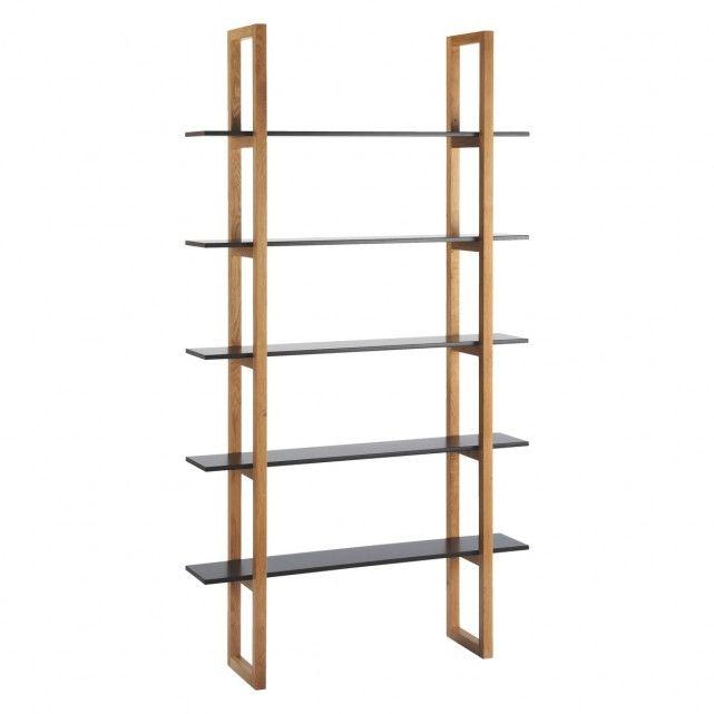 LOKI Black 5 shelf bookcase