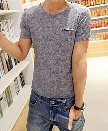 Slimming Trendy Round Neck Pocket Hemming Short Sleeve Cotton T-shirt For Men Color: BLUE, OFF-WHITE, GRAY Size: M, L, XL Category: Men > Men's T-Shirts & Vest   Material: Polyester, Cotton  Sleeve Length: Short  Collar: Round Neck  Style: Fashion  #solidcolortshirtsmen #solidtshirts #mentshirt #fashiontshirt #bridgat.com