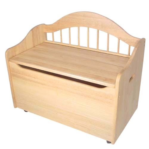 Toy Box Bench Natural Kidkraft Toybo Kids Furniture Childrens