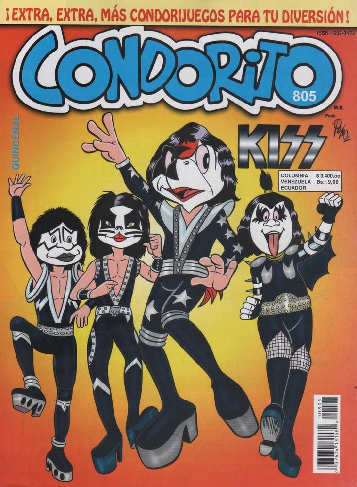 """Portada de """"Condorito"""" tributo a Kiss."""