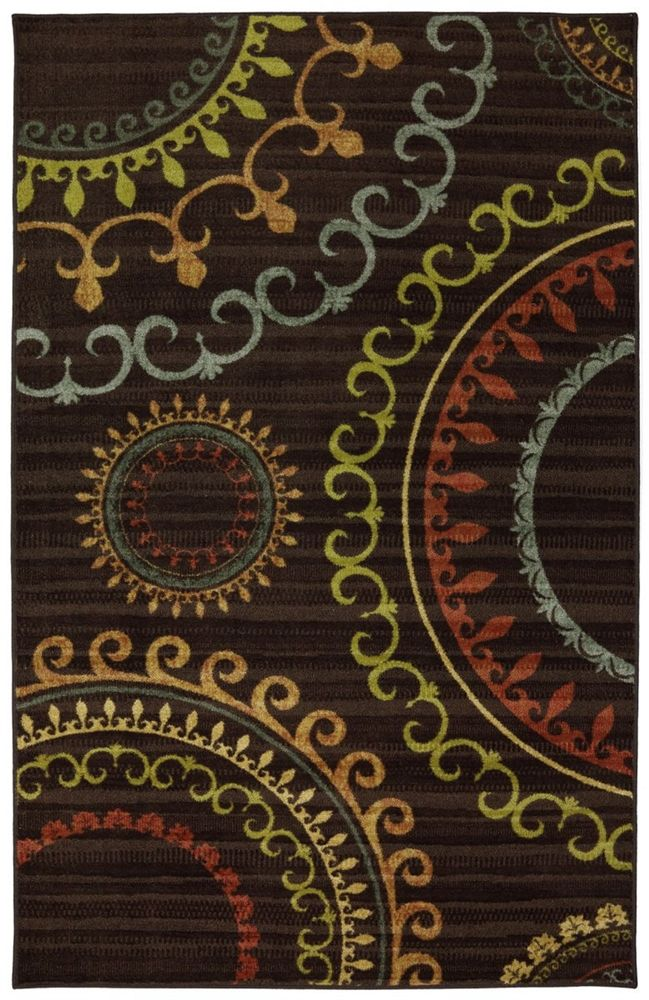 5370x1	  5 x 8 $125.00 Mohawk Home - Mohawk Home New Wave New Suzani Panel Multi Area Rug #95370