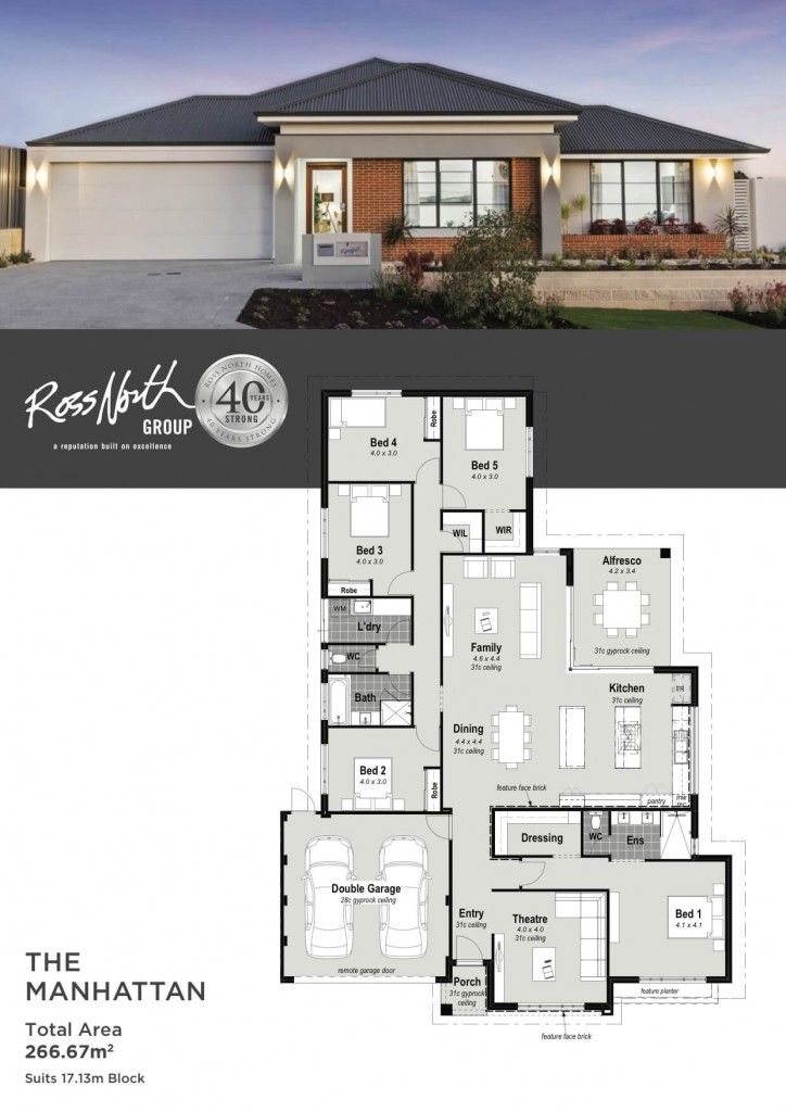 Ross North Homes The Manhattan Is A Big Home With Even Bigger Features Showcasing A Contemporary Elevati My House Plans House Plans Contemporary House Plans