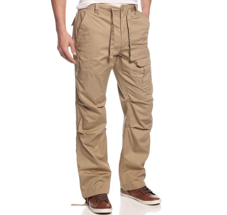 Sean John Big and Tall Pants, Pleat Pocket Flight Pants