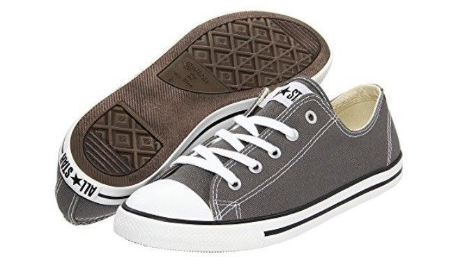 NEW WOMEN CONVERSE CHUCK TAYLOR ALL STAR DAINTY OX CHARCOAL