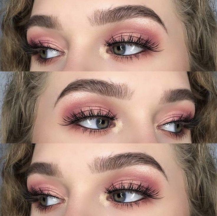 Rose Gold Smokey Eye Makeup –