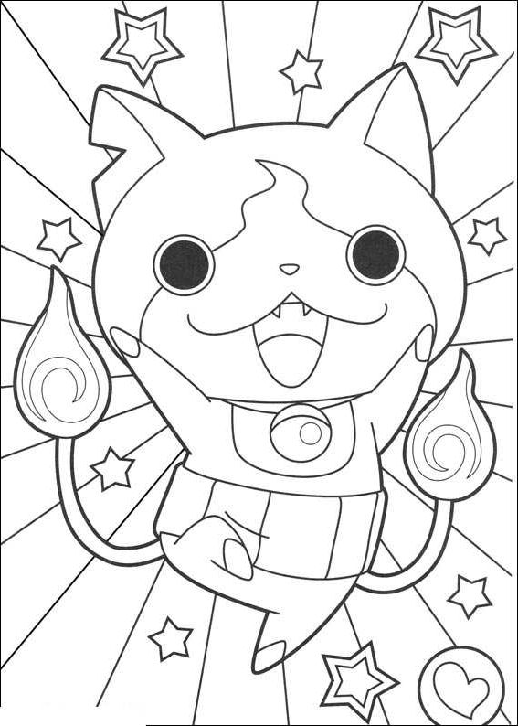 Yo Kai Watch Coloring Pages Dengan Gambar Gambar