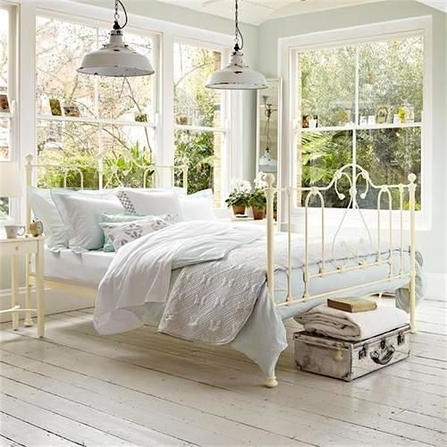 what better bed frame for a light and airy sun room than a light and rod iron bedsantique - Vintage Iron Bed Frames