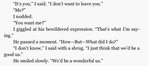 Awww prince Maxon always knows the right thing to say!