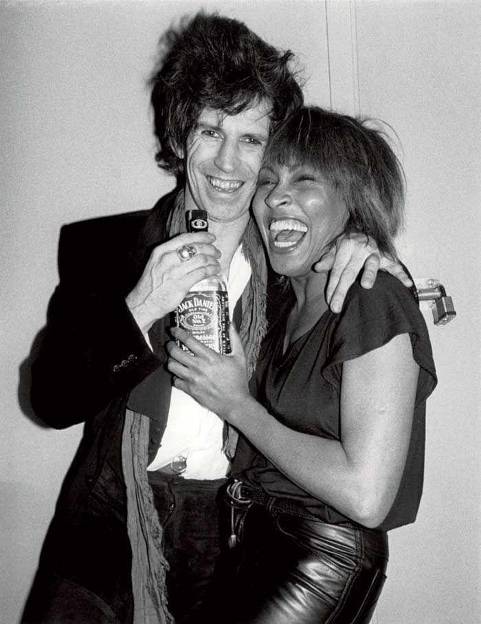 Keith Richards and Tina Turner