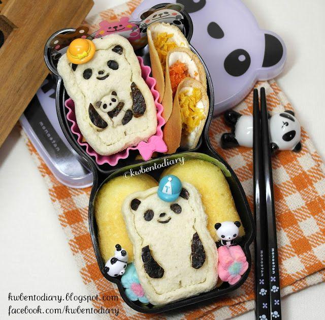 Karenwee's Bento Diary: Bento school lunch Cutezcute Animal Palz Mini Panda