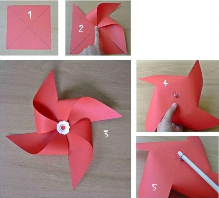 Las 25 mejores ideas sobre molino de viento de papel en for Como hacer molinos de viento para el jardin