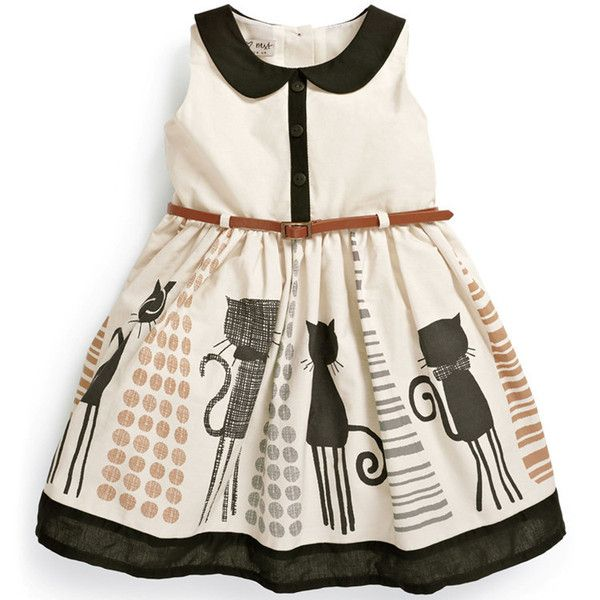 This cute cat dress will be perfect for your girl orniece!Now On Crazy Sale+ Free Shipping! Hurry and get yours today! Free Shipping! The perfectGIFT! Fabri