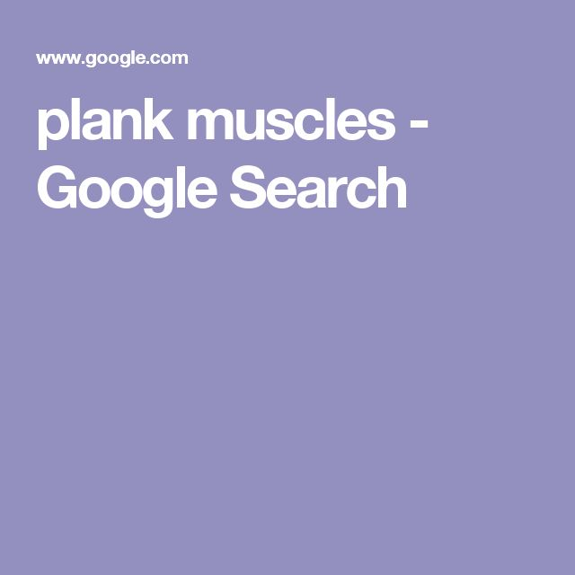 plank muscles - Google Search