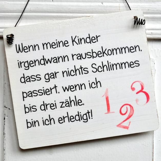 Lustiges Türschild für Eltern, Kinderzimmer Dekoration / funny door plate with quote for parents made by Shabbyflair-Decorations via DaWanda.com