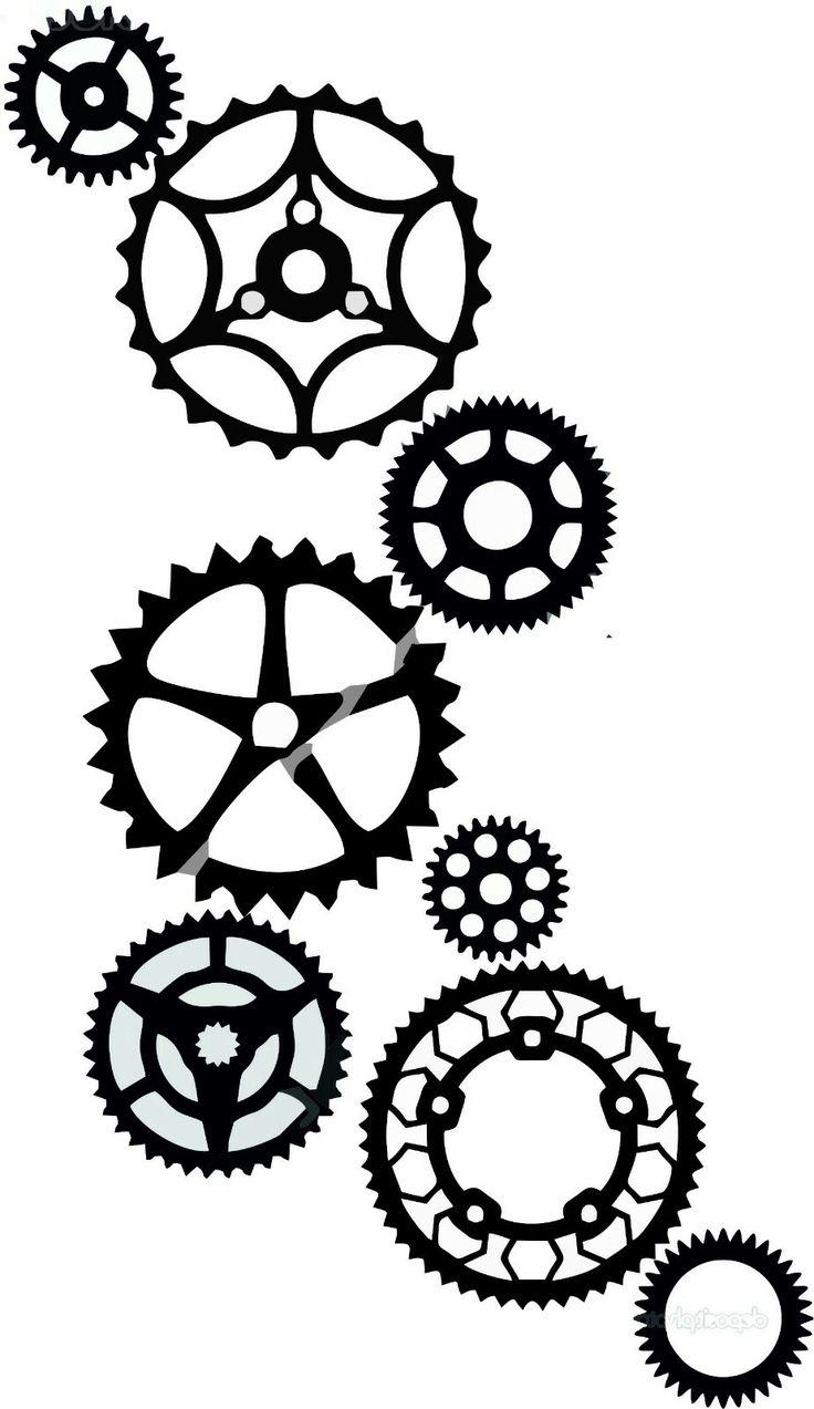 Gear Tattoo.Tattoo for Meyouchanical Engineer.Mechanical