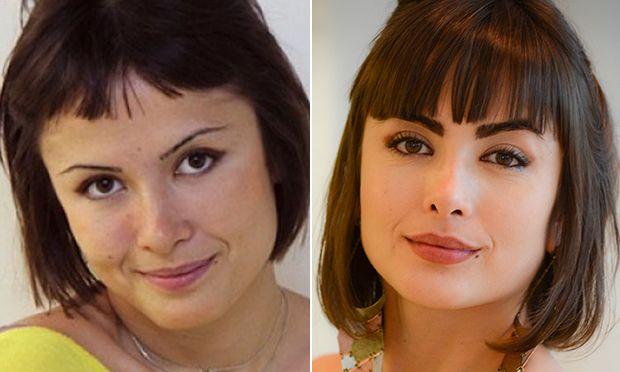 O antes e depois das sobrancelhas das famosas
