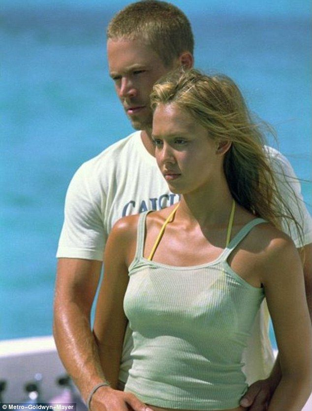 Beautiful memories: Jessica Alba and Paul Walker found greater success after the release of the 2005 action adventure Into The Blue, which was shot primarily in the Bahamas.
