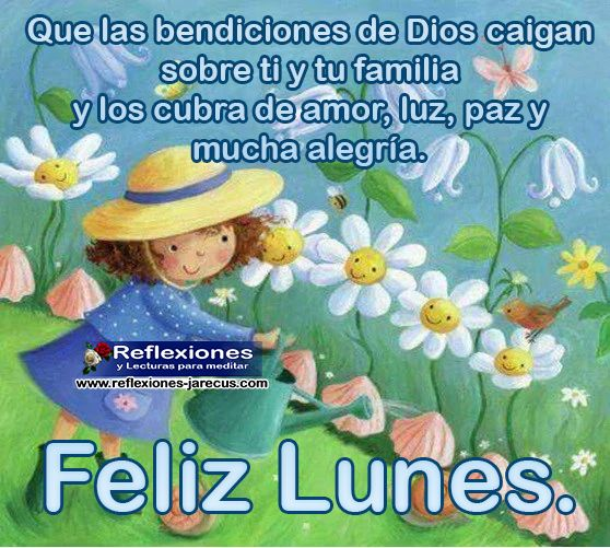 Feliz lunes, que Dios te bendiga