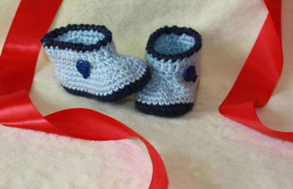Shoes Crochet Baby Boots Baby Boy Hand Made by ButterflyStitches16