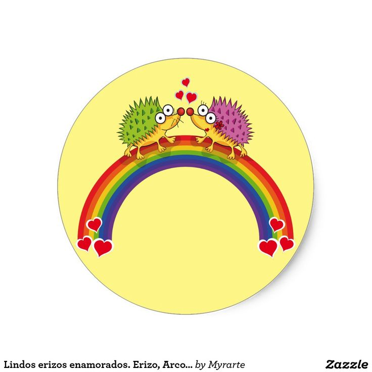 Lindos erizos enamorados. Erizo, Arcoiris. Día de los enamorados, amor. Valentine's Day, love. Producto disponible en tienda Zazzle. Product available in Zazzle store. Regalos, Gifts. Link to product: http://www.zazzle.com/lindos_erizos_enamorados_erizo_arcoiris_classic_round_sticker-217122840305291024?CMPN=shareicon&lang=en&social=true&rf=238167879144476949 #ValentinesDay #SanValentin #love #sticker #erizo #hedgehog