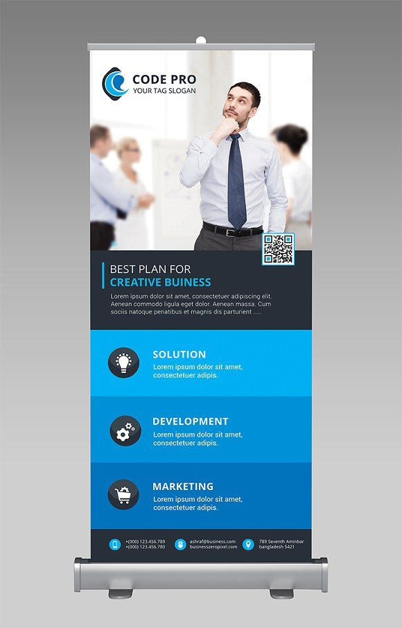 Corporate Rollup Banner by Creative Idea on @Graphicsauthor