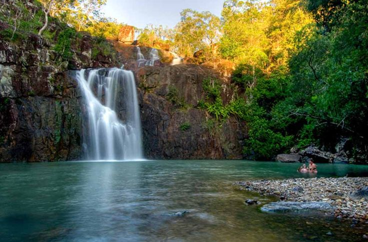 Visit Cedar Creek Falls, Airlie Beach (#ParkMyVan #VanHire #JethroBatts www.parkmyvan.com.au)