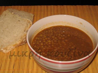μικρή κουζίνα: Φακή σούπα