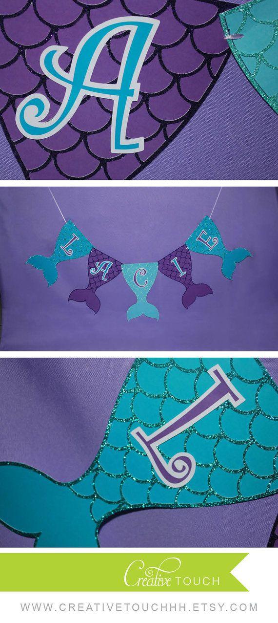 Mermaid Birthday Banner Mermaid Banner Mermaid by CreativeTouchhh