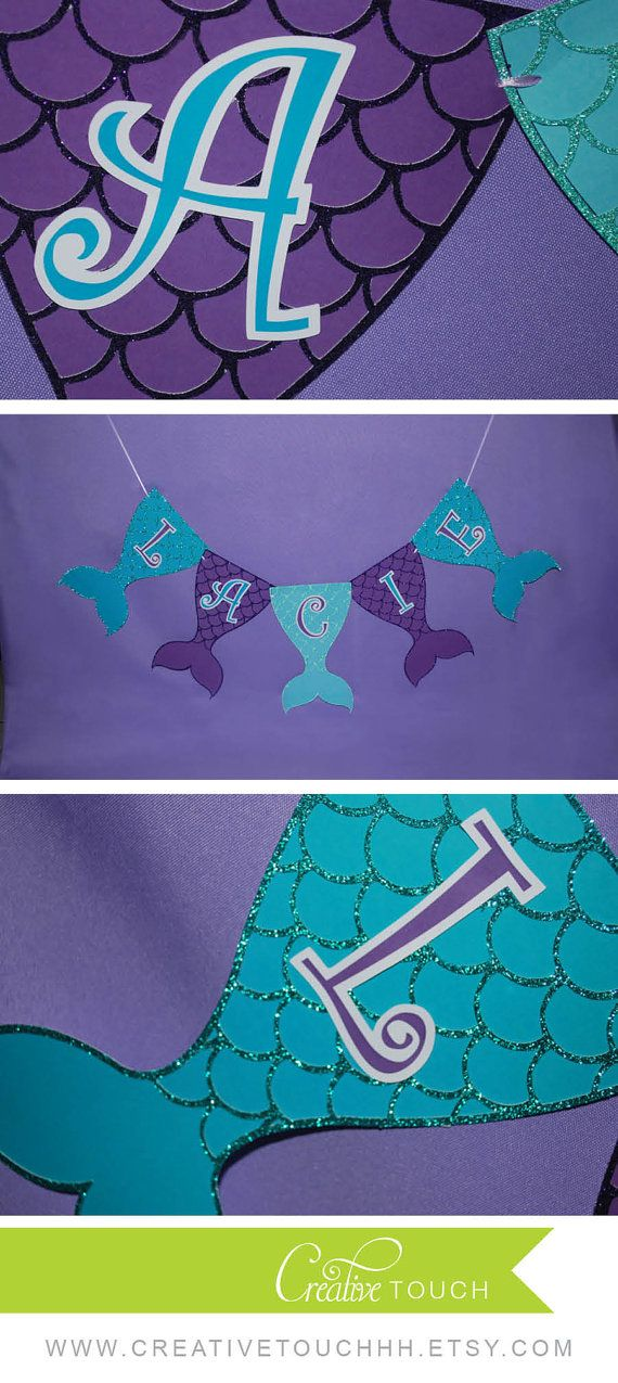 Mermaid Birthday Banner Mermaid Banner Mermaid by CreativeTouchhh                                                                                                                                                                                 Mehr