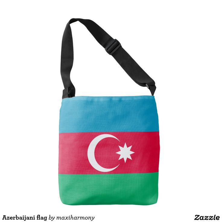 Azerbaijani flag tote bag