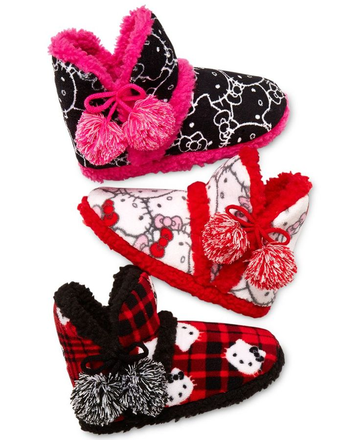 Hello Kitty Printed Plush Boot