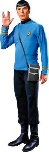 Star Trek Home Decor. Bring a wall-sized Spock Cutout to your wall today!    http://www.ltlprints.com/startrek/17233/Space/Subcategory