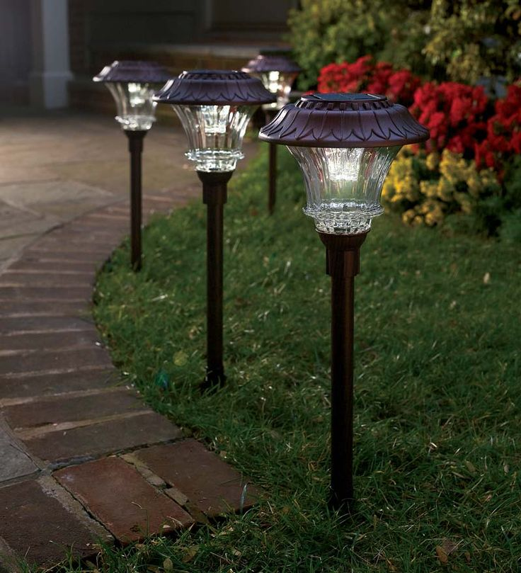 Our super bright solar led path lights shine brighter longer and stronger one of the brightest on the market each path light has 6 super bright leds with