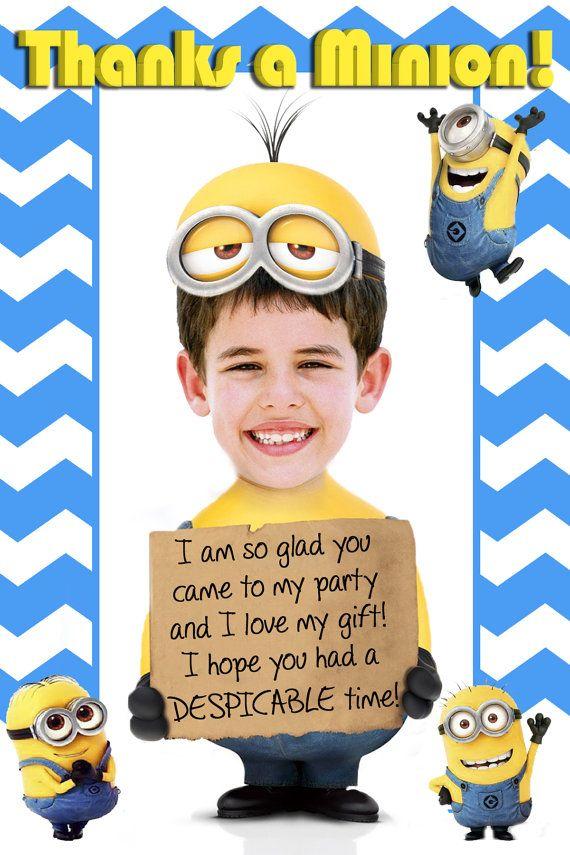 Minion Birthday Invitation Photo Minion by PartyPhotoInvites