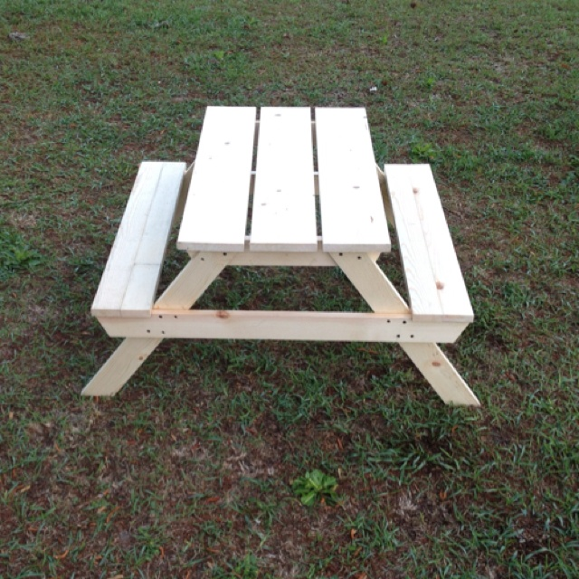 High Quality I Built This Kids Picnic Table! Plans Courtesy Of Ana White!