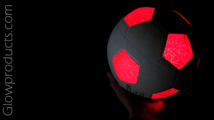 Light Up LED Soccer Ball  http://glowproducts.com/lightupoutdoorfun/sportsballsoccer/