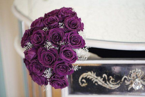 ramos de novia con rosas moradas - Buscar con Google