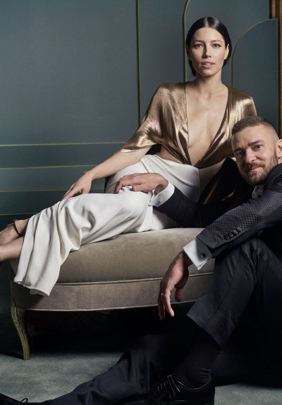 Jessica Biel and Justin Timberlake 2017 | Jessica Biel and Justin Timberlake – Vanity Fair Oscar Portrait 2017