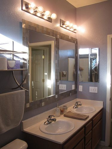 tile mirrors-diy - Doing this ASAP for an old mirror I was going to throw out because I hate the frame