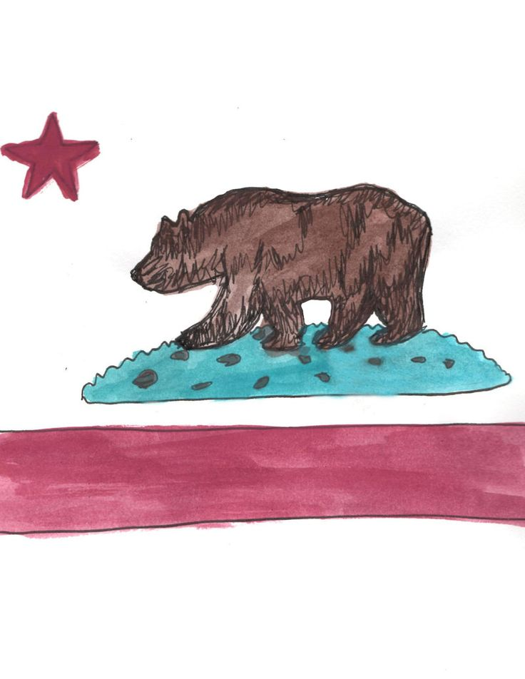 California Flag Thingy Bear Flag Drawing from