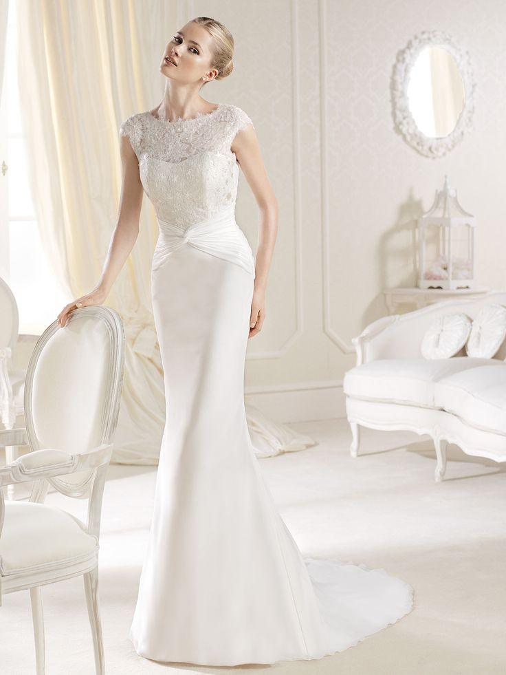 Cap Sleeves Fitted La Sposa Wedding Dress Iacove|DimitraDesigns.com
