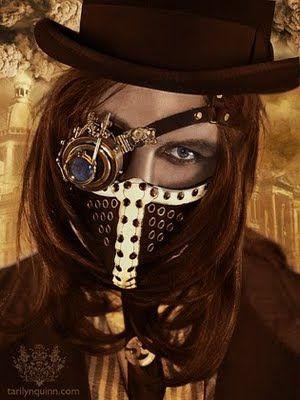 : Steampunk Fashion, Eye Patch, Steampunk Outfit, Steampunk Style, Steam Punk, Masks, Costume, Photo, Steampunk Mask