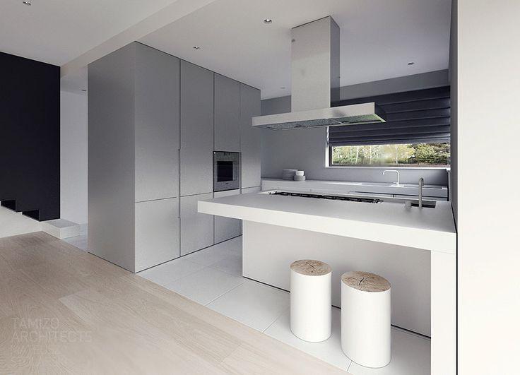 single family house interior design , warsaw.