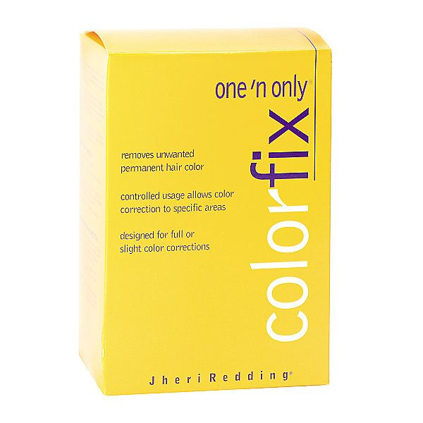 One 'n Only Colorfix removes unwanted permanent haircolor regardless of how long it has been in the hair.