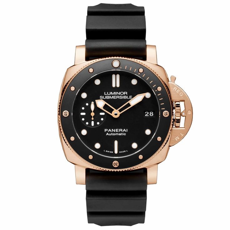 Panerai Luminor Submersible 1950 3 Days Automatic 42 mm -  The Panerai Luminor Submersible 1950 3 Days Automatic 42 mm is the new and smaller (5 millimeters) Submersible, in steel and gold  -  Your Watch Hub