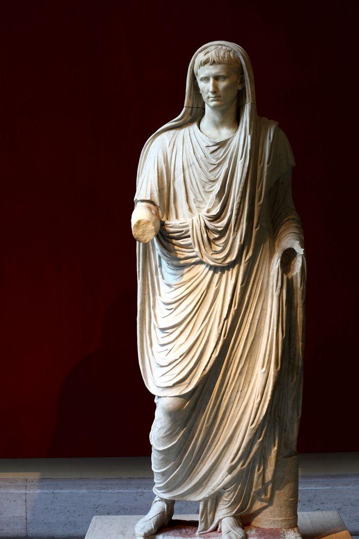 Keizer Augustus als pontifex maximus; Dichtbij Stazione ...