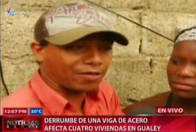 Se Derrumba Una Viga De Acero En El Gualey Varios Heridos #Video