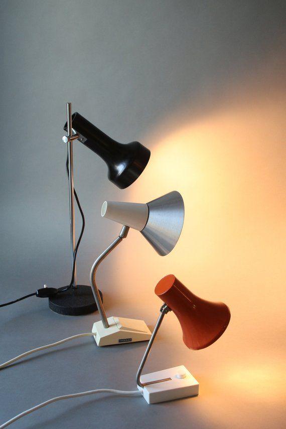 Mid Century Modern Lamp Vintage German Table Lamp By Lekosmosberlin Mid Century Lamp Lamp Vintage Lamps